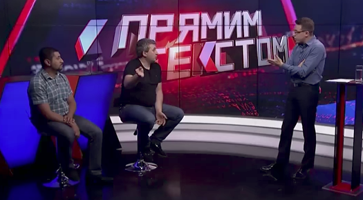 Ukrainian talk show guest walks out in language row