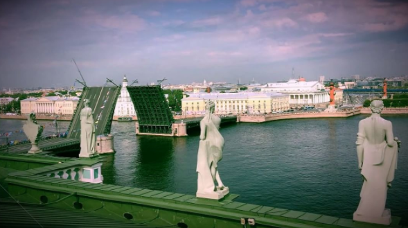 From the roof of the Winter Palace, Russian Navy Day was almost magical