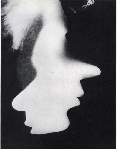 "Double Portrait, 1923, an early example of cameraless photo which the artist dubbed as a ""photogram"". (Image: Wikiart)"