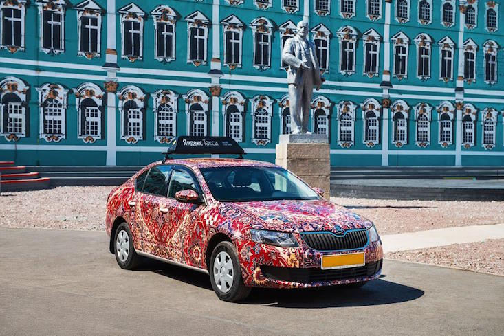 Take a ride in a St Petersburg street art taxi — The Calvert Journal