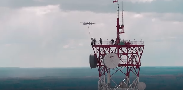 """Latvian thrillseekers complete world's first """"drone dive"""""""