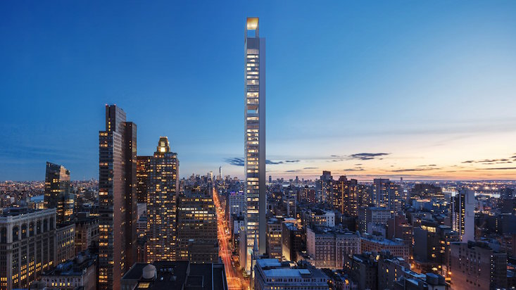 Moscow architecture studio Meganom to design slender supertall New York skyscraper