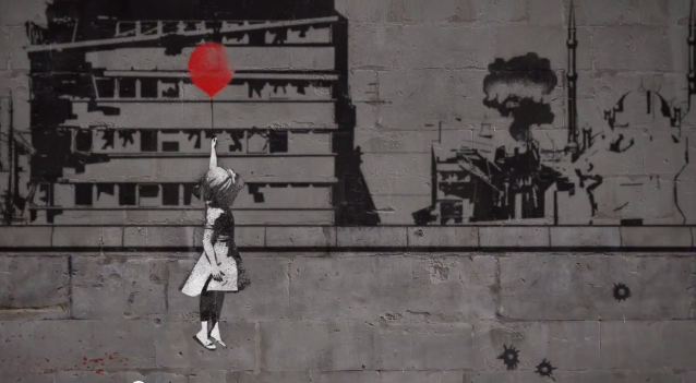 Banksy video screens at Moscow's Tretyakov gallery for #WithSyria campagin