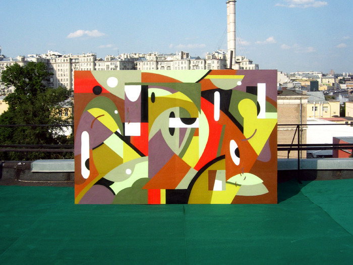 Moscow street art exhibition explores changing urban landscape