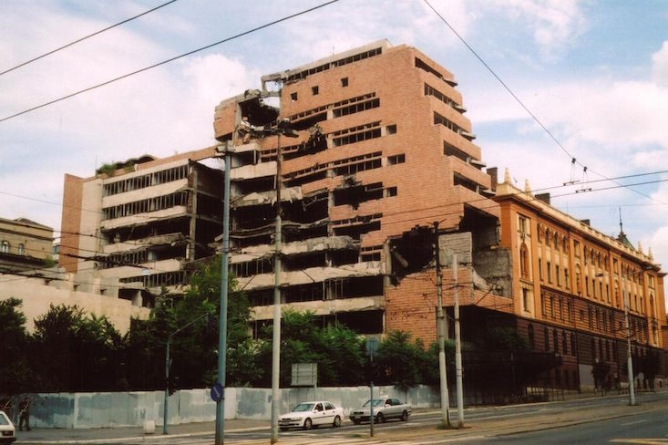 Serbian architects rally to save bombed Yugoslav Defence Ministry