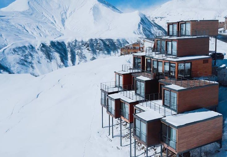 Savour the slopes at the Georgian ski resort crafted from shipping containers