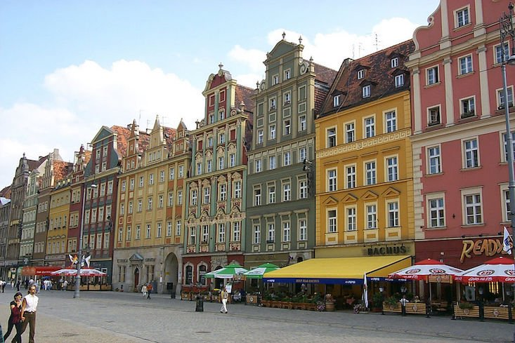 Wrocław among the world's most colourful destinations