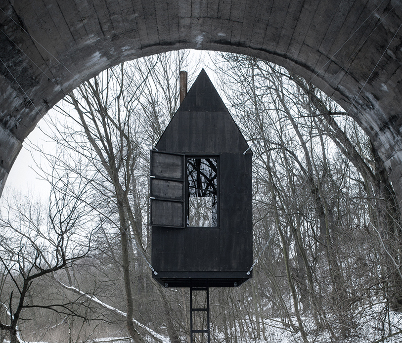 "Check out the eerie Czech ""Black flying house"""
