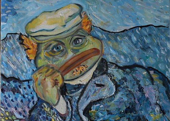 Russian artist paints Pepe the Frog like you've never seen him before