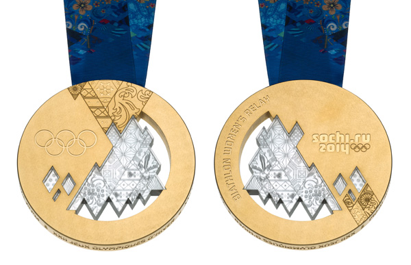 Sochi 2014 Winter Olympics medals unveiled