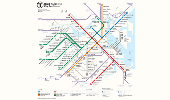 Russian designer wins competition to redesign Boston subway map