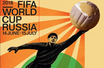 Russia unveils Soviet-inspired official World Cup poster