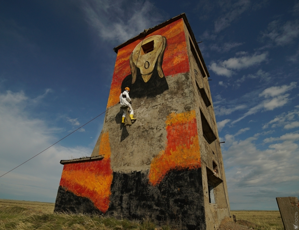 This is Silence: Kazakh street artist takes on nuclear waste