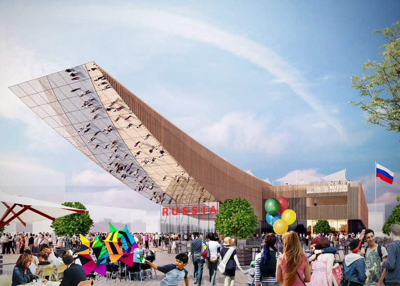 Architect designs 30-metre-long canopy for Russia's Milan Expo pavilion