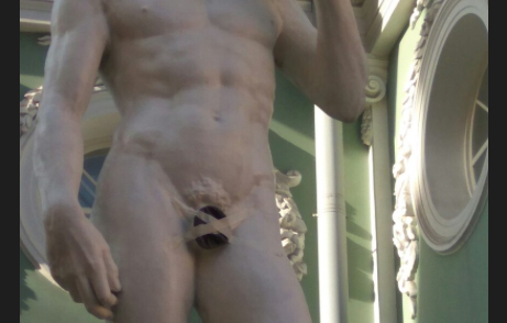 St Petersburg artists restore the modesty of Michelangelo's David