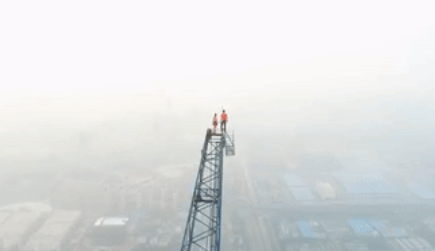 New heights: Russian pair scale world's tallest construction site