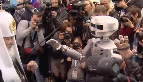 Head of Russian Orthodox Church in robot snub