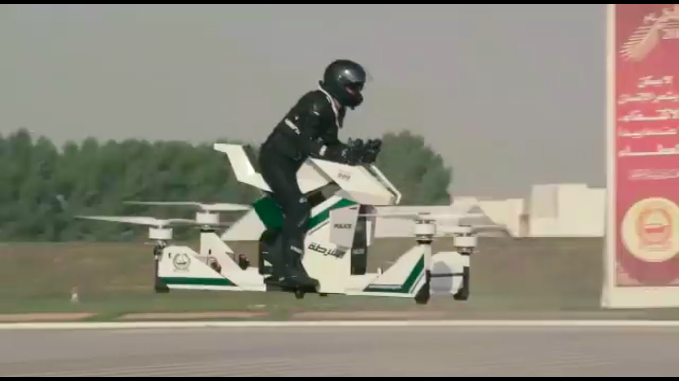 Watch Dubai police test out Russian-built flying motorcycles