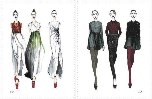 Sketches From Top Russian Fashion Designers Published In
