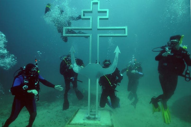 Construction of first underwater Orthodox church begins in Crimea
