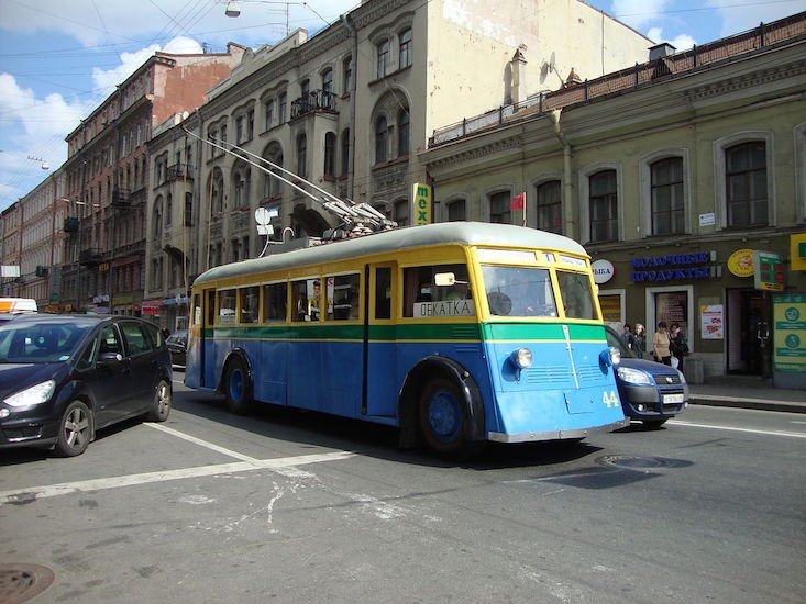 Ride back in time on a retro trolleybus in Moscow