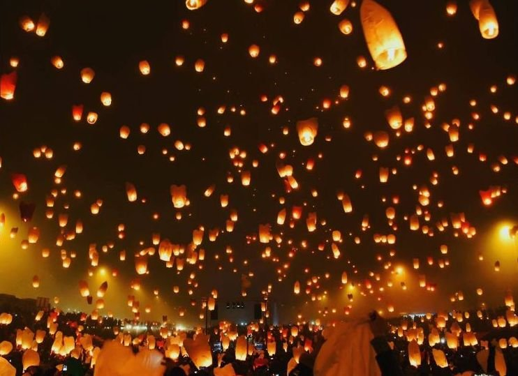 Lanterns light up the sky in Zagreb