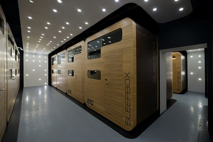 Russian take on japanese pod hotel opens in moscow the for Google sleep pod price