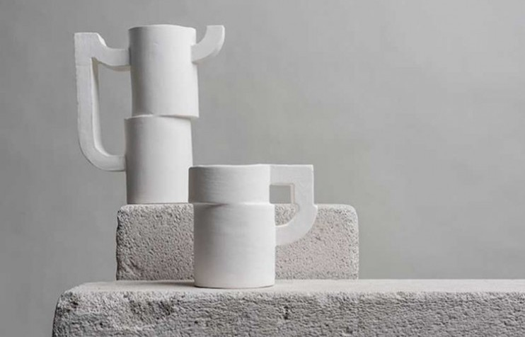 Russian designer Victoria Nurislamova creates type-inspired ceramics