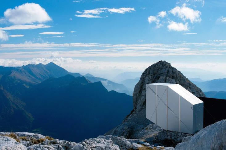 Don't look down: would you stay in this precarious Slovenian mountain cabin?
