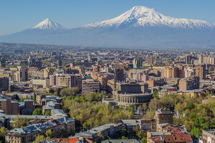 Armenia in search of independence anniversary logo and slogan