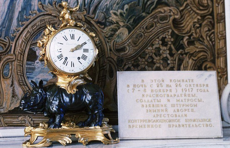 Hermitage re-starts clocks stopped at the moment Bolsheviks seized power
