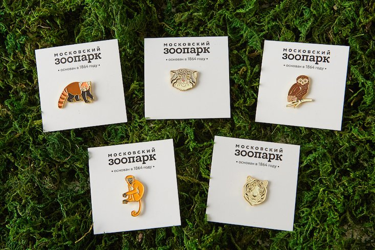 Channel your inner animal with these Heart of Moscow zoo pins
