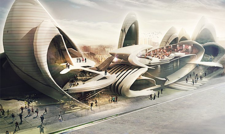 Check out the insect-inspired design for Moscow Circus School