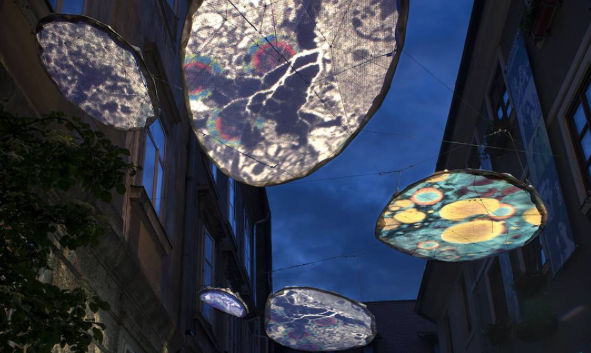 Ljubljana light art festival explores memory
