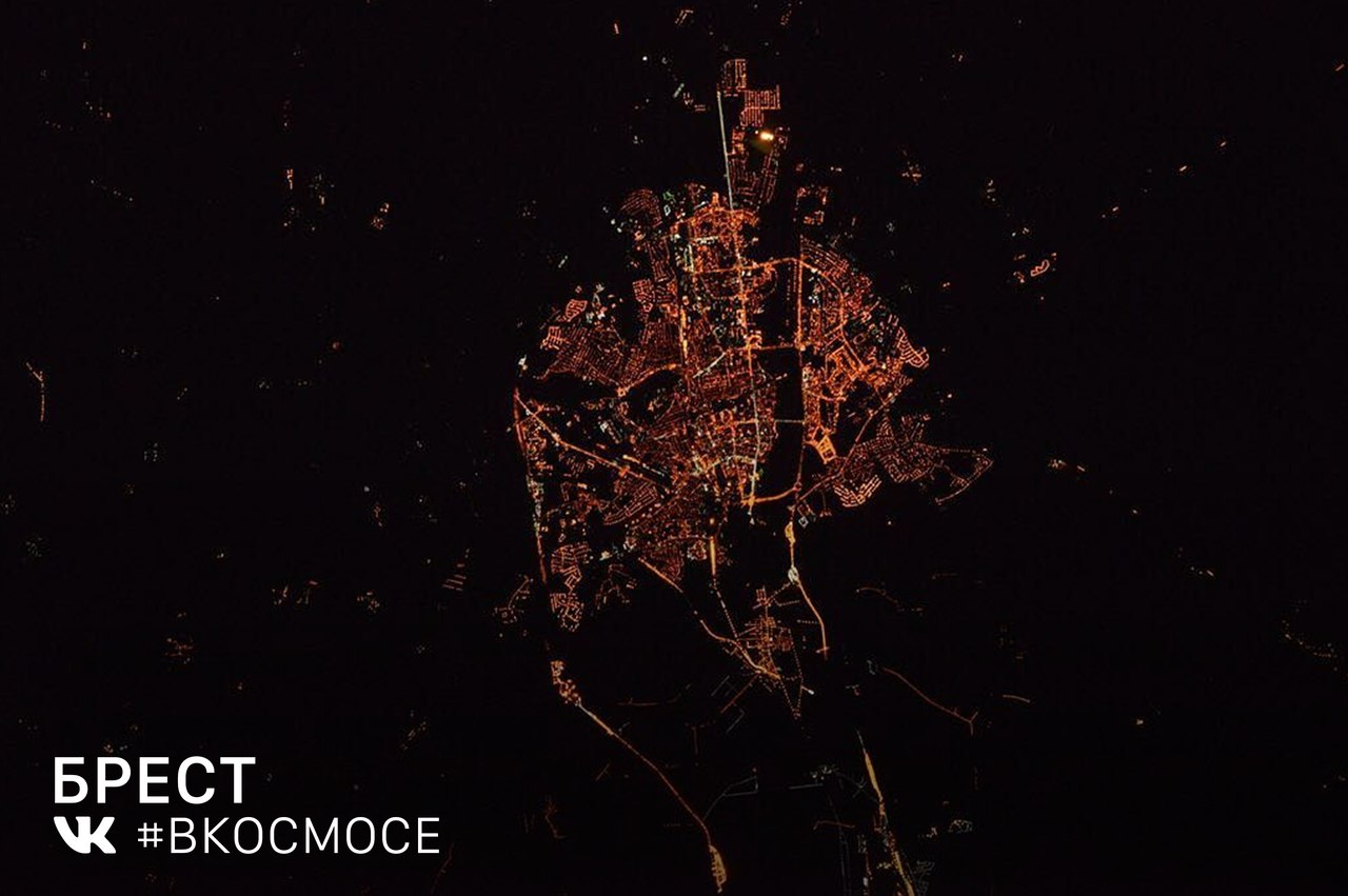 Brest from space. Image: #InSpace / VKontakte