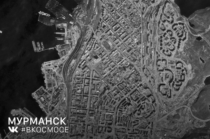Murmansk from space. Image: #InSpace / VKontakte