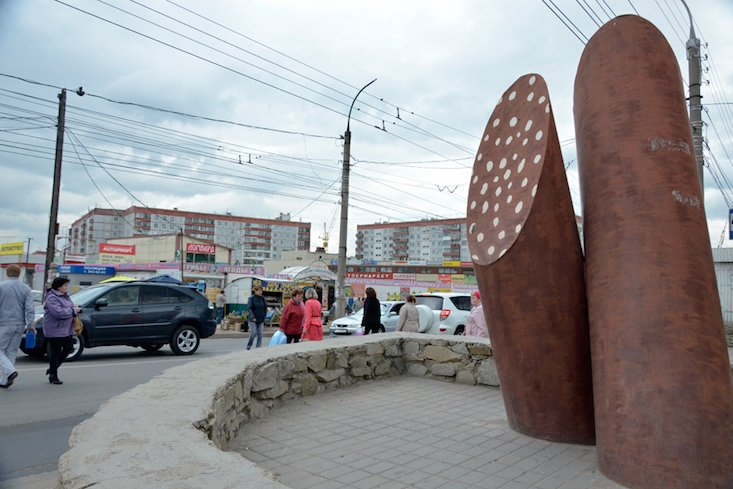 Kolbasa monument dismantled in Novosibirsk