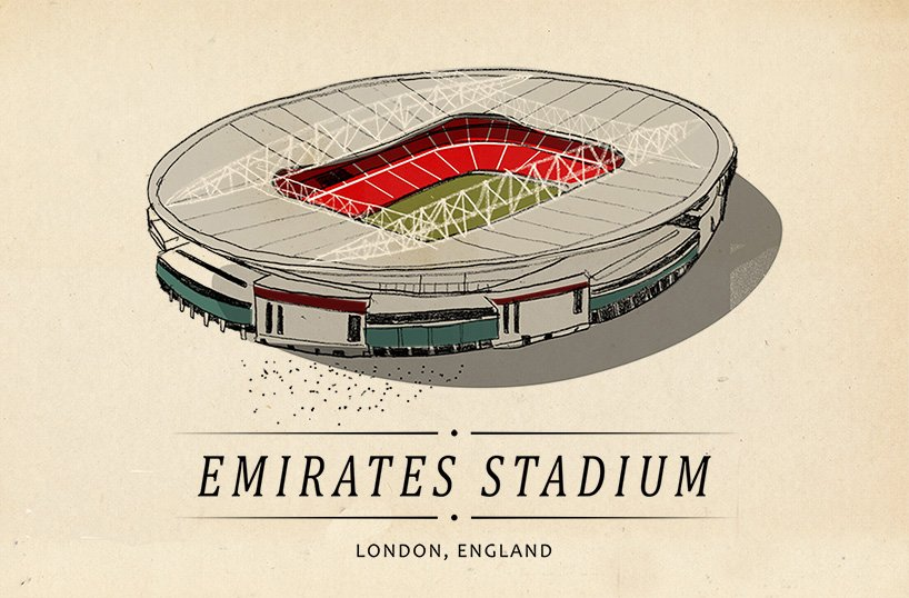 Hungarian illlustrator scores with drawings of world's iconic football stadiums