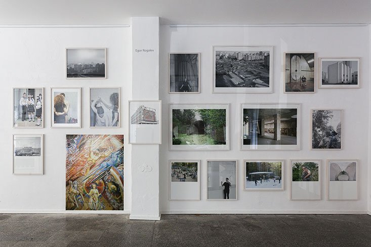 Installation view for Egor Rogalev at Aff Gallery