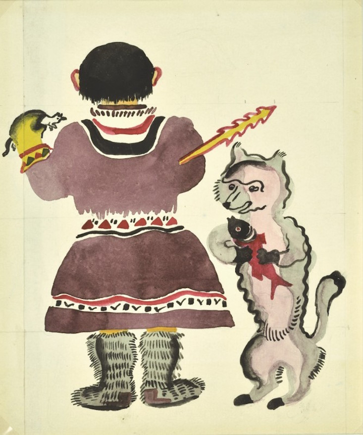 Original illustrations for Little Girls by Vera Ermolaeva, 1927