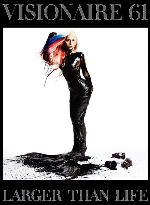 Lady Gaga on the cover of Visionaire Larger Than Life