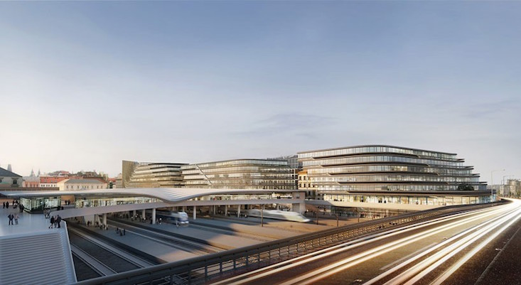 Zaha Hadid Architects reveal plans for new Prague business district