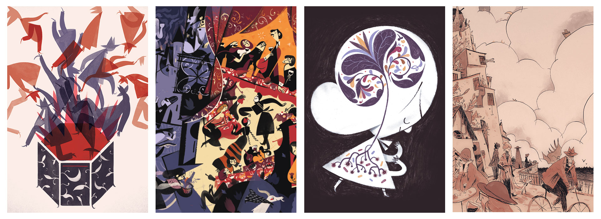 A fine line: the illustrated worlds of Roman Muradov