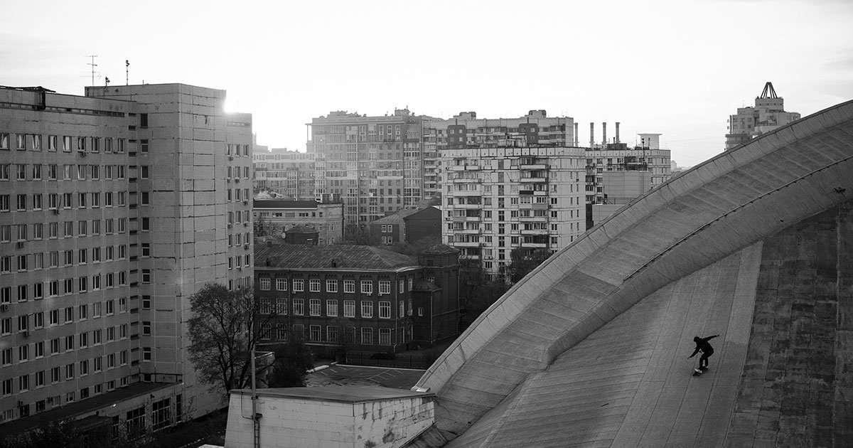 Ride the roof: the secret skateboarding paradise on top of Moscow's Soviet-era buildings
