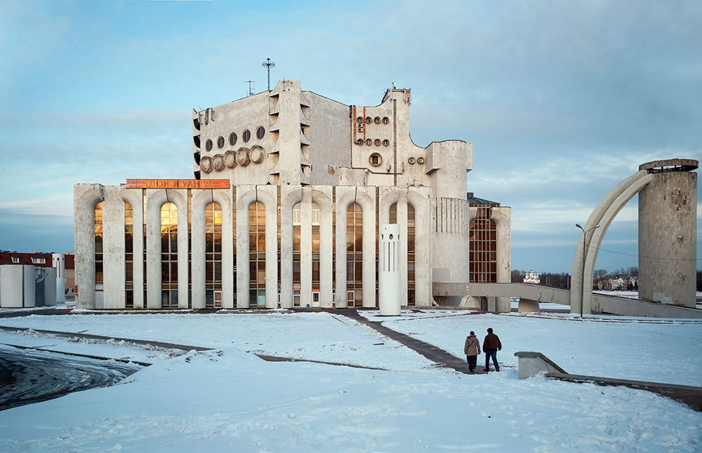 Stage beauty: celebrating the magnificent Brutalism of Veliky Novgorod's drama theatre