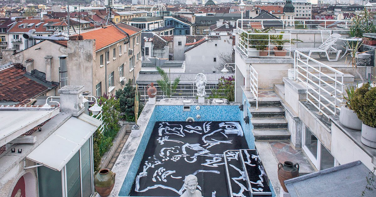 A bigger splash: inside the Sofia art space in a rooftop swimming pool