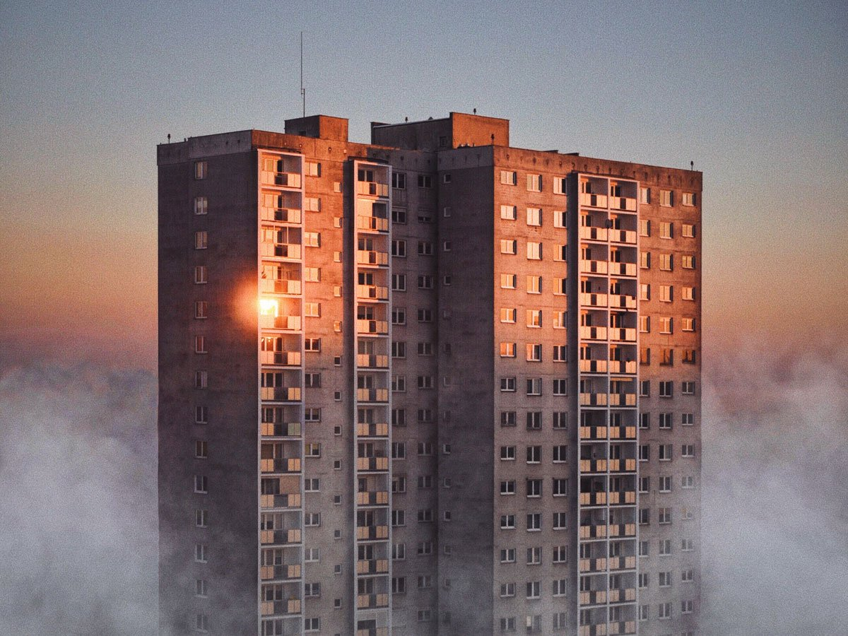 Image result for soviet bloc housing red