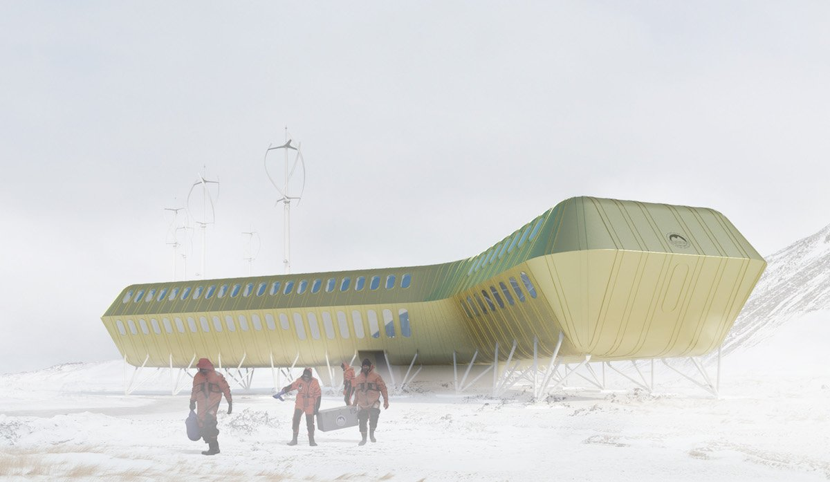 This Polish research station is bringing sleek style to the Antarctic
