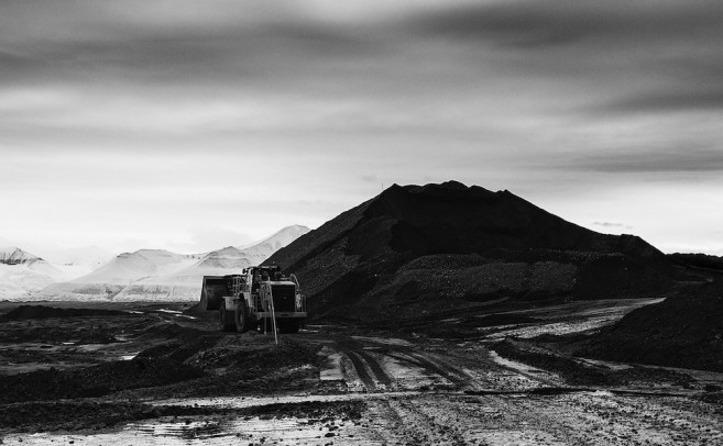 Northern exposure: mining on Svalbard captured in black and white