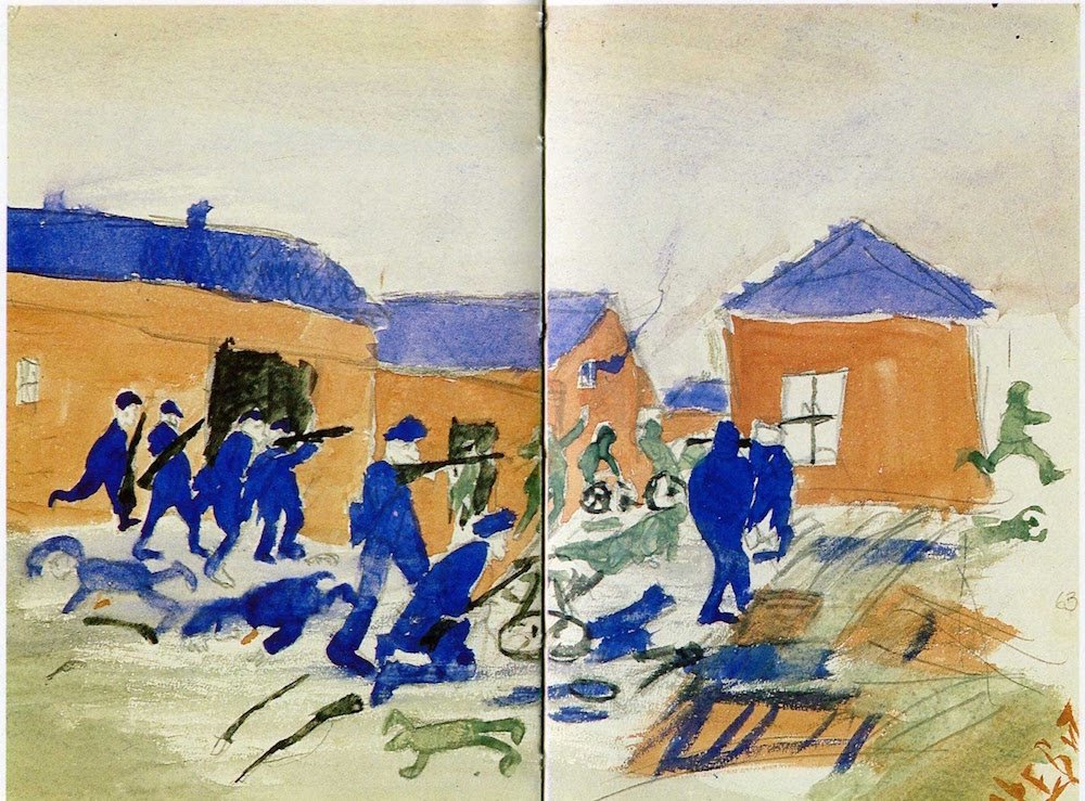 Witnesses to history: the turmoil of 1917 captured in children's drawings